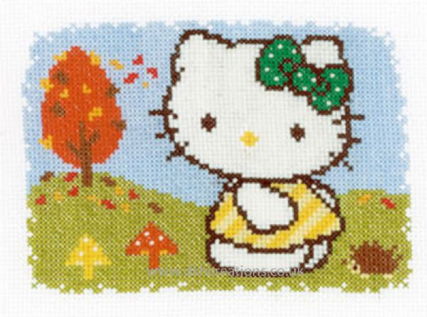 Hello Kitty Autumn Cross Stitch Kit
